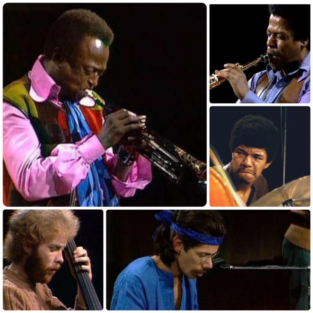 Miles e i suoi sodali: Sotto i sodali del trombettista afroamericano: Wayne Shorter, Dave Holland, Chick Corea e Jack DeJohnette