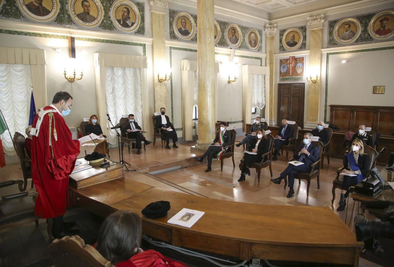 Perugia, il Covid ha limitato le cerimonie nelle corti d'Appello