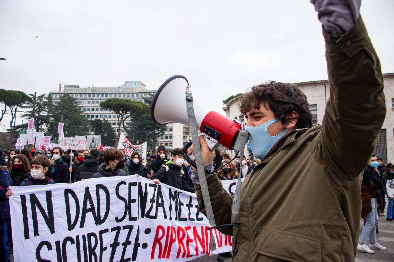Manifestazione degli studenti a Roma