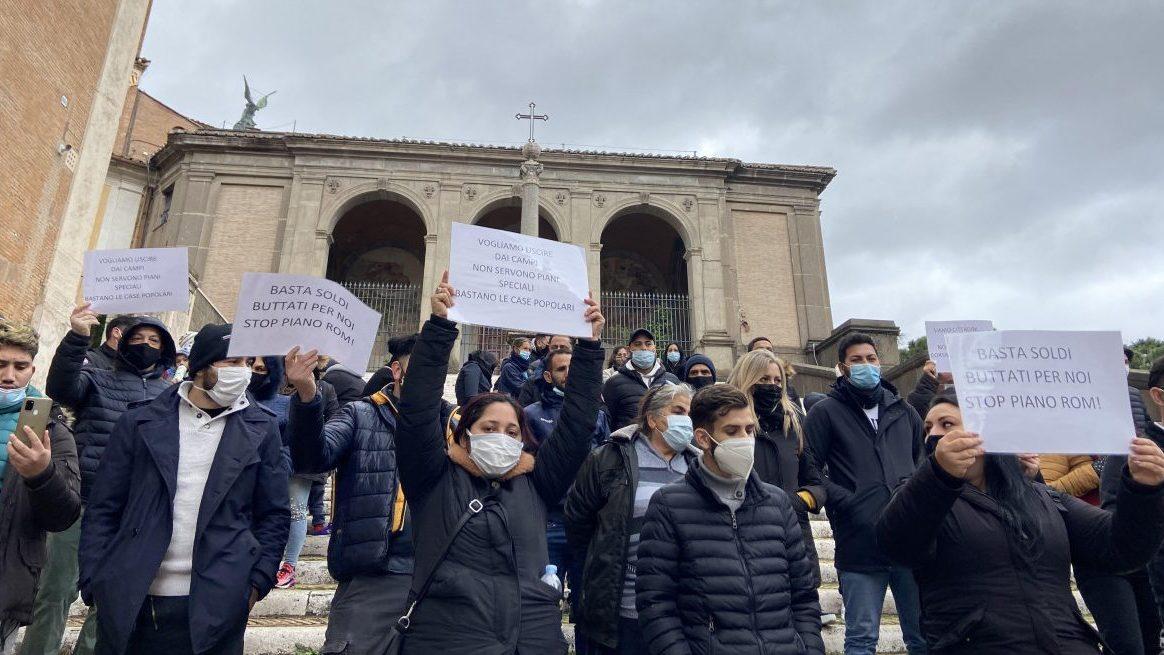 La protesta in Campidoglio