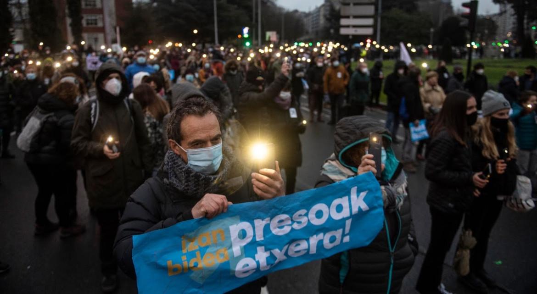La manifestazione del 9 gennaio a Donostia-San Sebastián