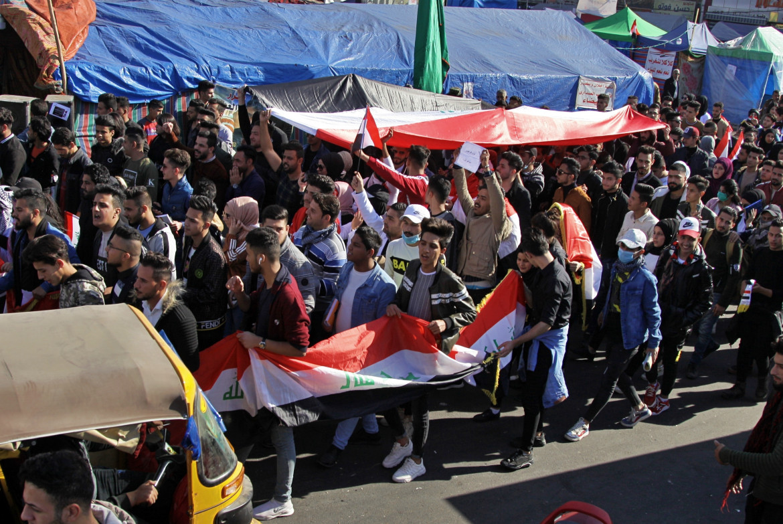Il presidio di piazza Tahrir a Baghdad, dicembre 2019