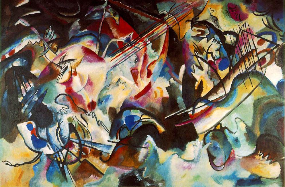 Vasilij Vasil'evič Kandinskij, «Composizione VI (Il diluvio)», 1913