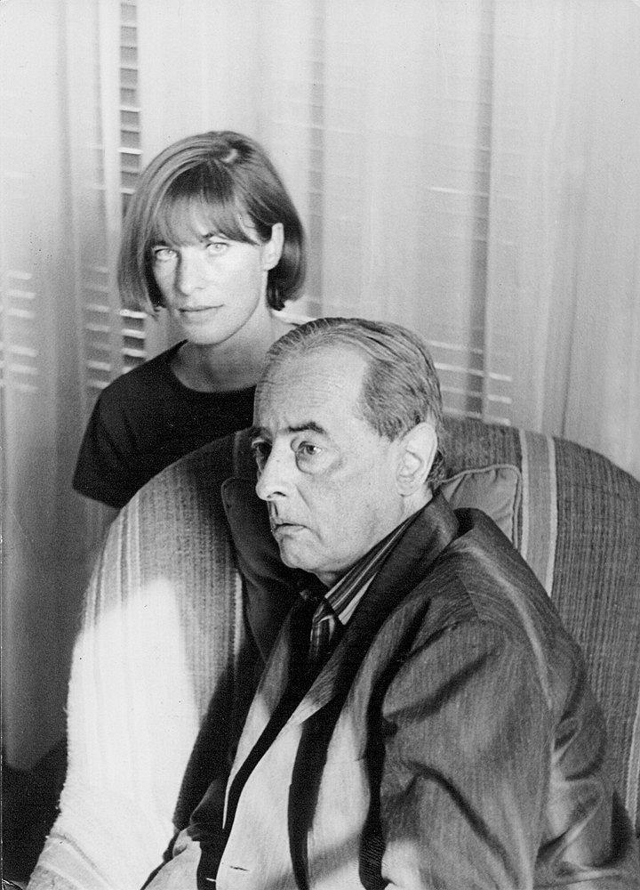 Rita e Witold Gombrowicz  a Vence alla fine degli anni sessanta