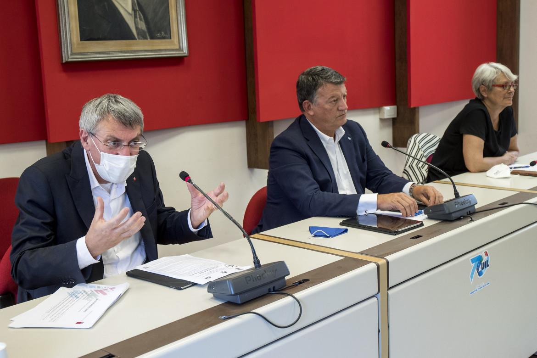 Maurizio Landini, Pierpaolo Bombardieri e Annamaria Furlan