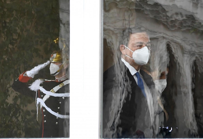Mario Draghi al Quirinale il giorno dell'incarico