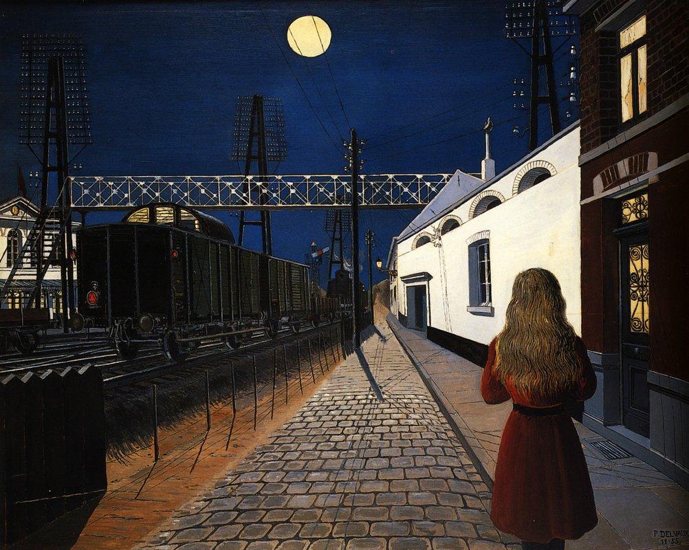 Paul Delvaux, «Loneliness» (1956, Musee des Beaux-Arts de Mons, Belgio)