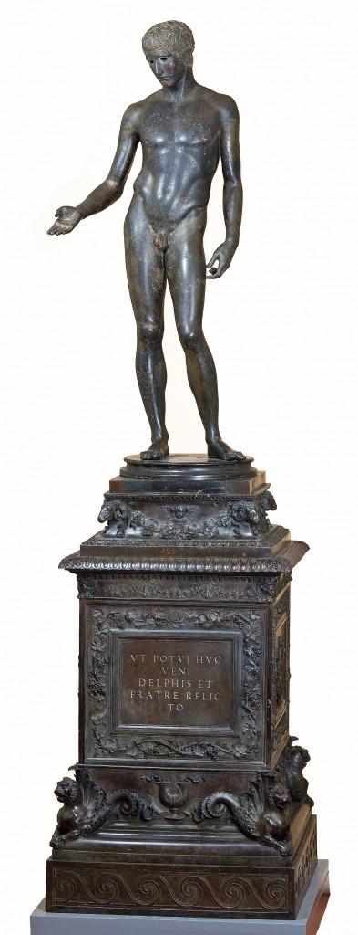 Idolino di Pesaro, Firenze, Museo Archeologico: statua, di epoca romana; base, realizzata nella bottega dei fratelli Lombardo verso la metà del Cinquecento