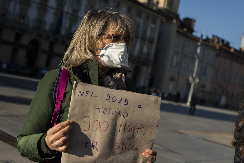 Presidio Friday For Future del gennaio 2020 per l'emergenza smog a Torino