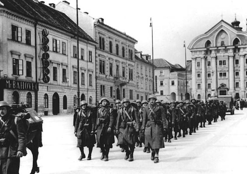 Marzo 1941, le truppe italiane partecipano all'invasione del Regno di Jugoslavia