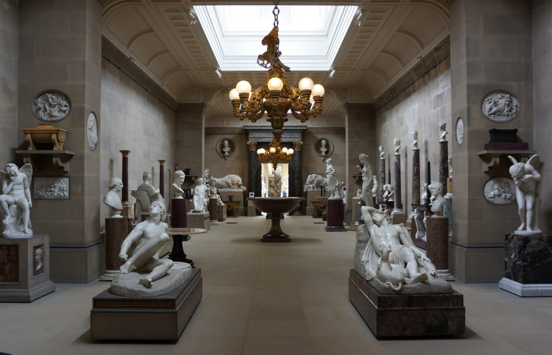 Chatsworth House, Inghilterra, Derbyshire: la Sculpture Gallery