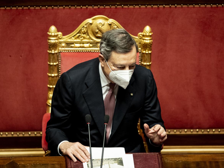 Mario Draghi in Senato