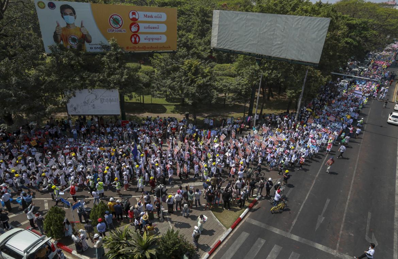 Proteste a Yangoon