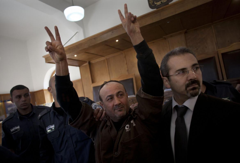 Marwan Barghouti in tribunale a Gerusalemme nel 2012