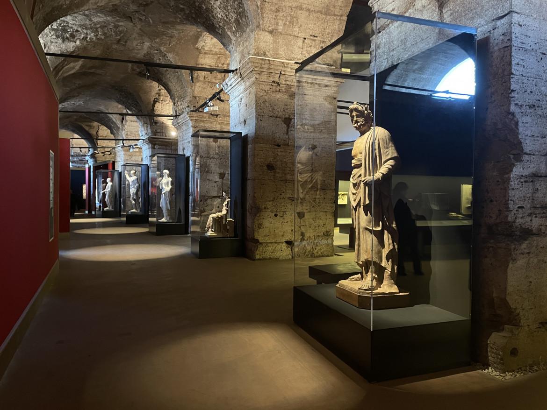 Parte dell'allestimento della mostra «Pompei 79 d.C. Una storia romana»