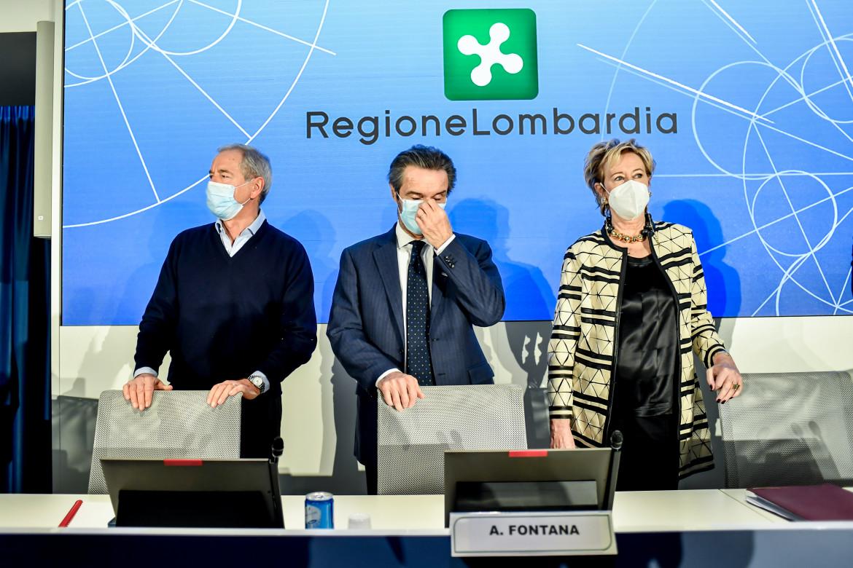 Guido Bertolaso, Attilio Fontana e Letizia Moratti