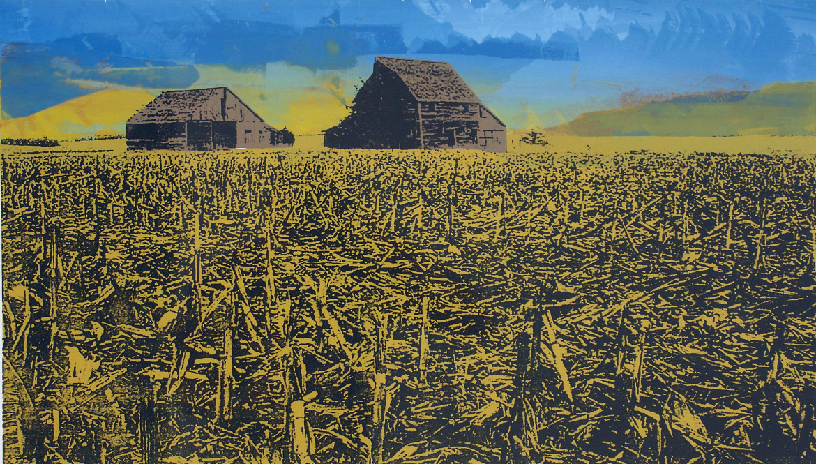 «Harvested Grounds», serigrafia di Justin Marable