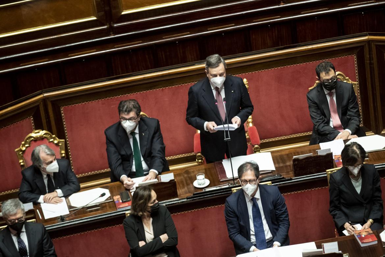 Mario Draghi interviene in senato