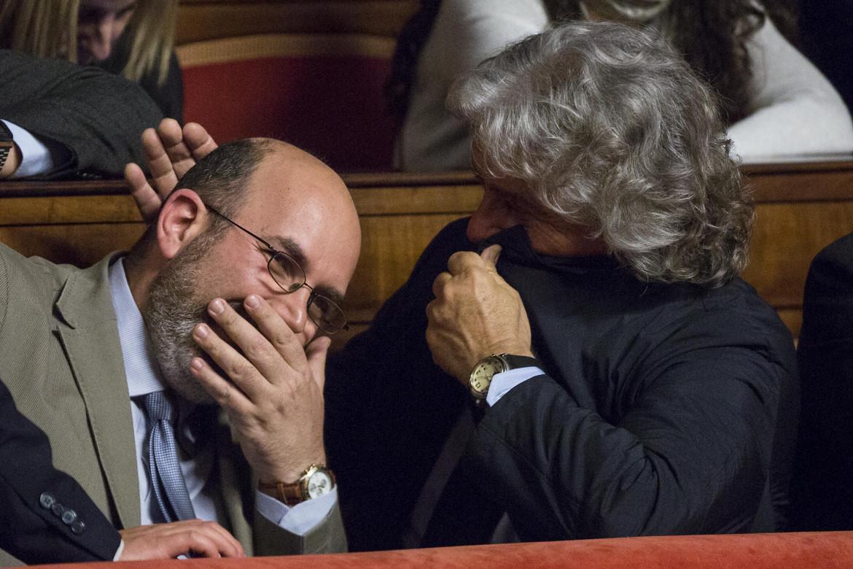 Vito Crimi e Beppe Grillo