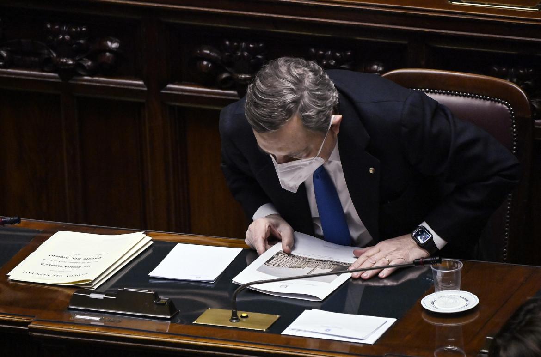 Mario Draghi ieri alla camera dei deputati