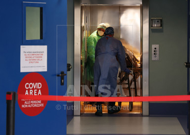 Reparto Covid all'ospedale Poliambulanza di Brescia