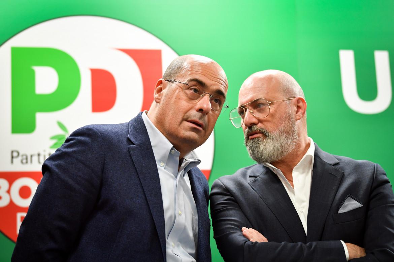 Nicola Zingaretti e Stefano Bonaccini