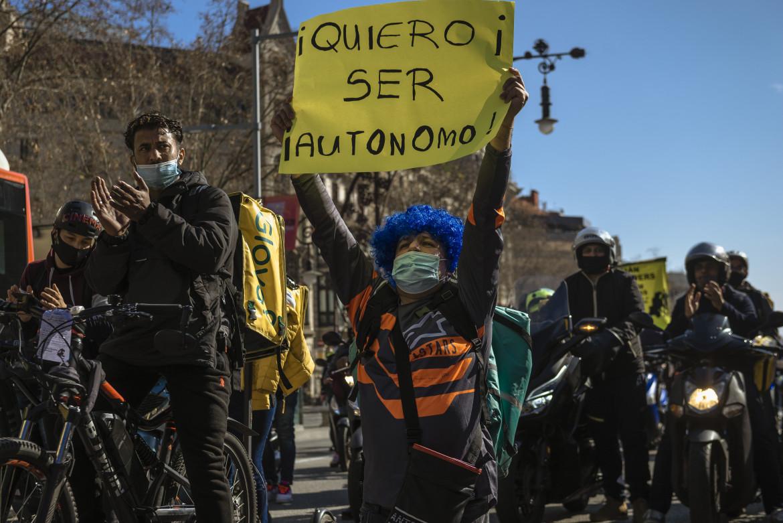 Barcellona, marcia di protesta dei rider