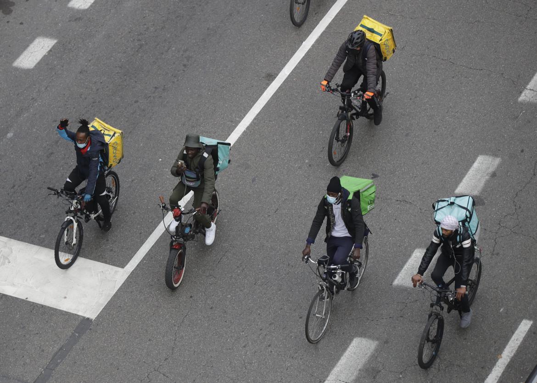 Manifestazione di protesta dei rider a Milano