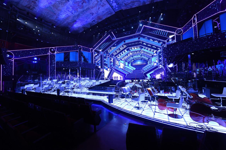 La scenografia di Sanremo 71