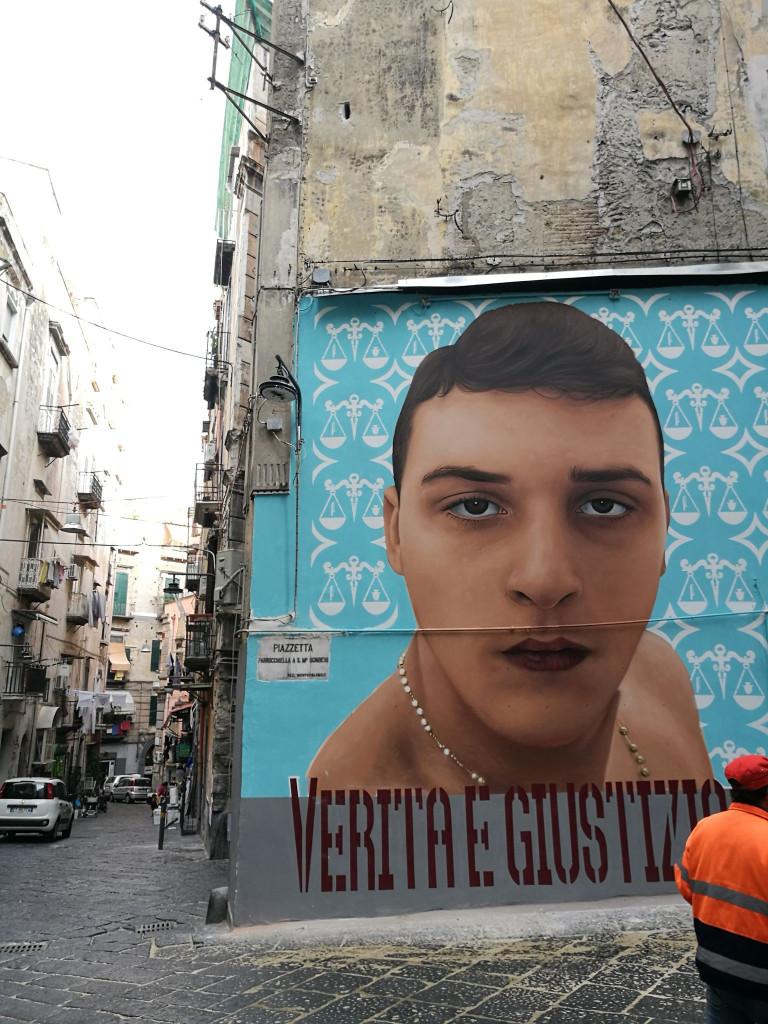 Il murales dedicato a Ugo Russo, Napoli