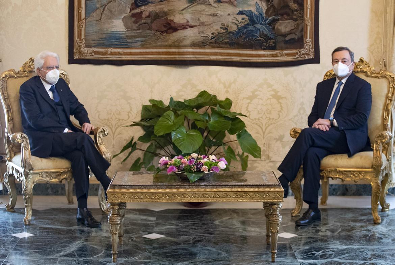 Mattarella e Draghi al Quirinale