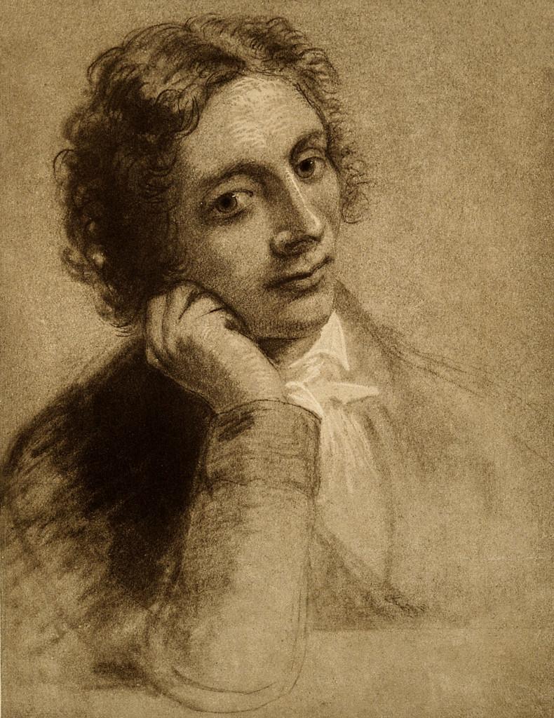 John Keats, fotoincisione da un ritratto di Joseph Severn