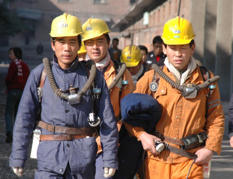 Minatori cinesi nello Shaanxi