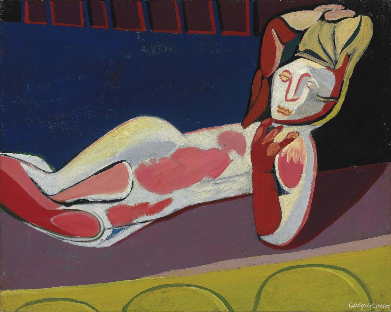 Robert Colquhoun, «Reclining woman», 1943