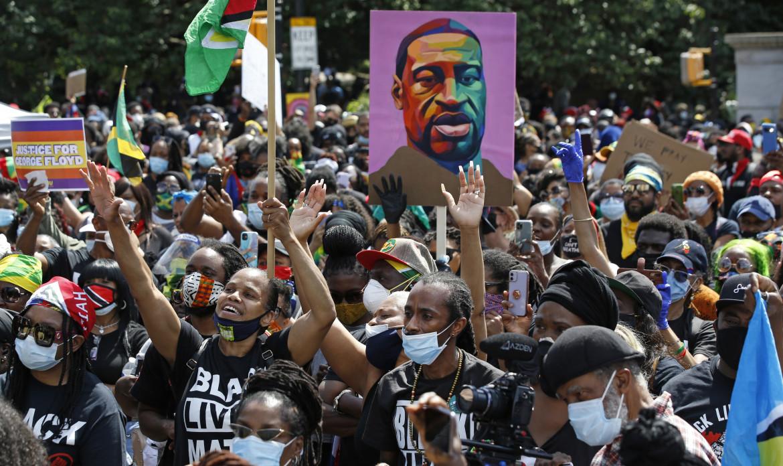 Una delle proteste di Black Lives Matter negli Stati uniti