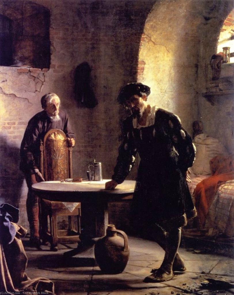 Carl Heinrich Bloch, «Cristiano II in prigione al castello di Sonderborg», 1871