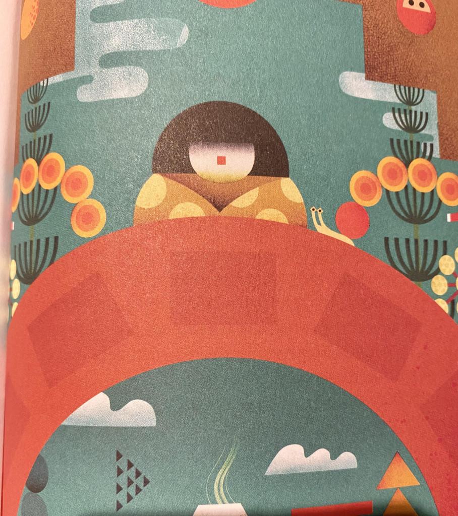 Illustrazione di Philip Giordano (da «Hishi-me o la principessa del ponte»)