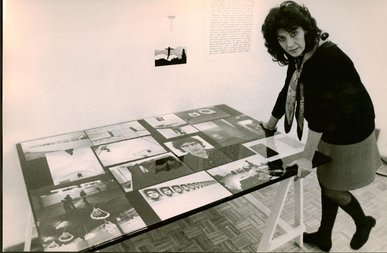 Massimo Piersanti, Graziella Lonardi Buontempo a Presenza Italiana, Palazzo Taverna, 1971