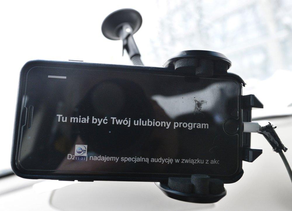 La pagina web oscurata di Tvn24: