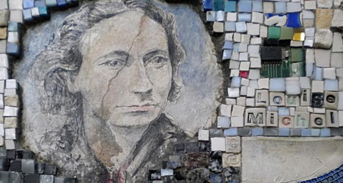 Il mosaico dedicato a Louise Michel a rue Veron, a Parigi