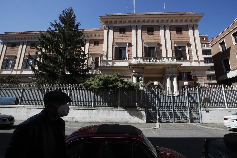 La sede dell'ambasciata russa a Roma