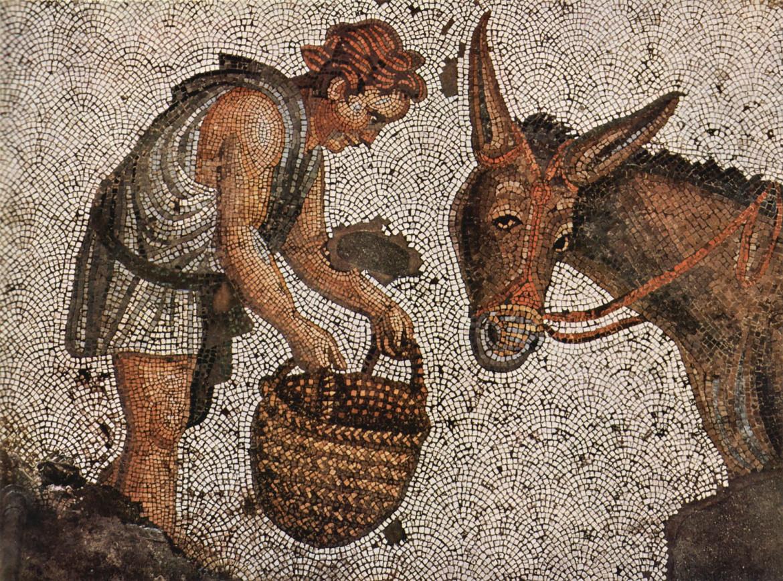 L'asino d'oro (mosaico bizantino)