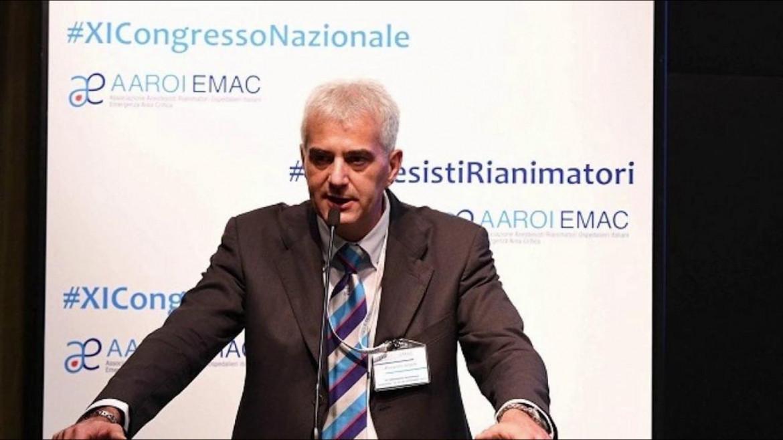Alessandro Vergallo, presidente del sindacato degli anestesisti rianimatori ospedalieri (Aaroi-Emac)