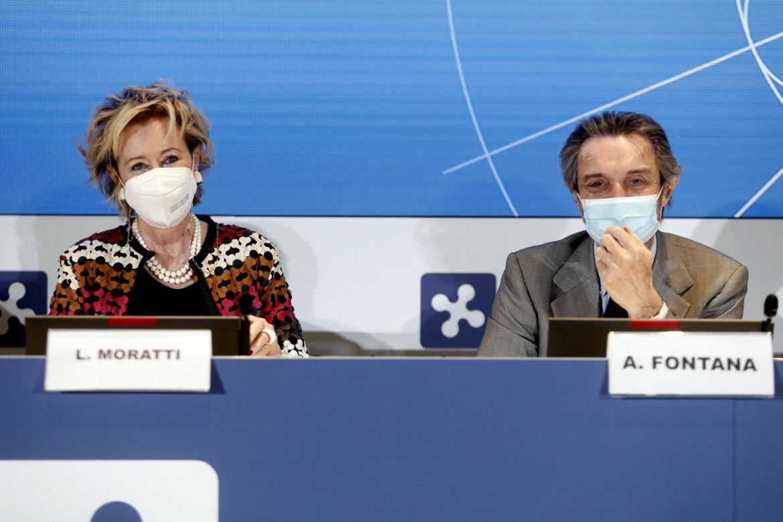 Letizia Moratti e Attilio Fontana
