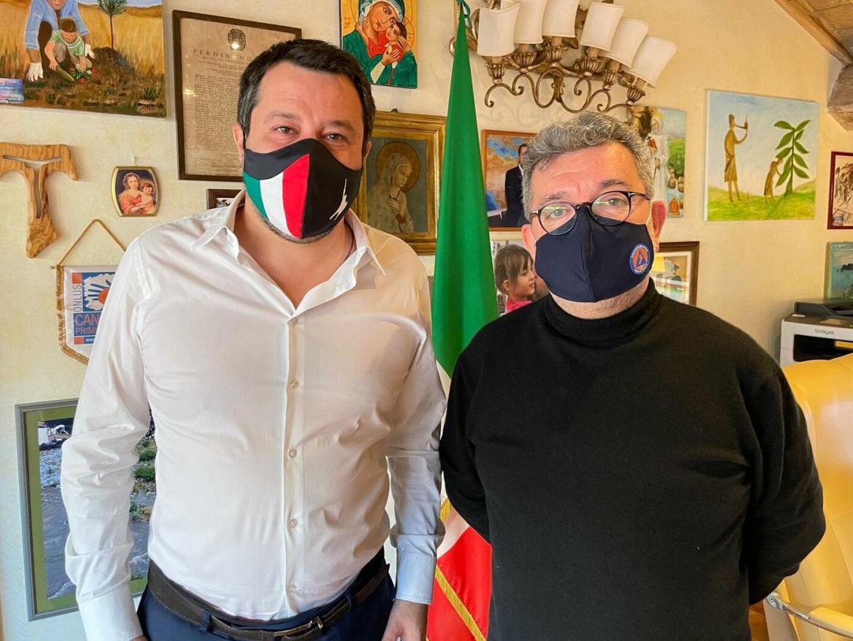 Matteo Salvini e Nino Spirlì, Facente funzione della Regione Calabria