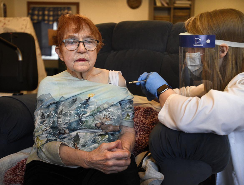 Vaccinazione a domicilio per gli anziani di Ketchikan, Alaska