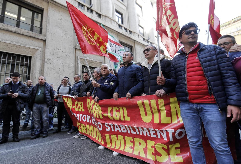 Mobilitazione degli operai dell'ex stabilimento Fiat di Termini Imerese, Marzo 2021