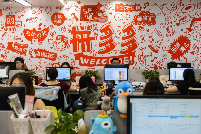 Lavoratori dell'industria tech in Cina