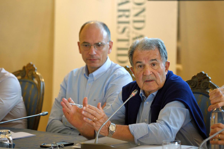 Enrico Letta con Romano Prodi