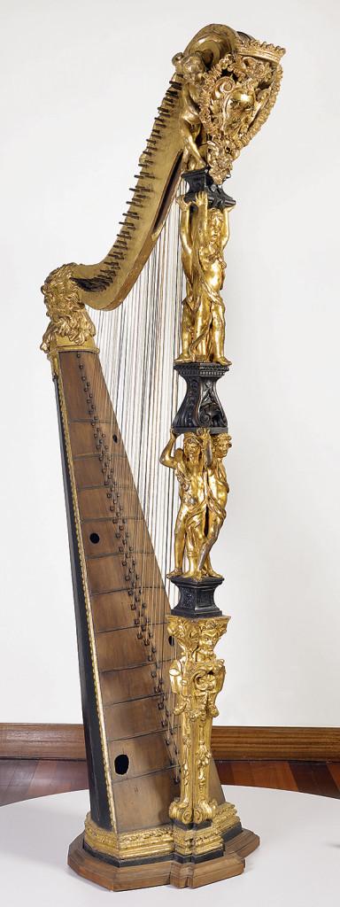 Geronimo Acciari e Giovanni Tubi, Arpa Barberini, Roma, Museo Nazionale degli Strumenti Musicali